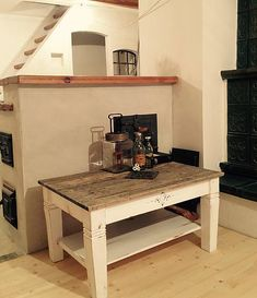 vYQt / Konferenčný stolík Kitchen Cart, Shabby, Table, Furniture, Home Decor, Decoration Home, Room Decor, Tables, Home Furnishings