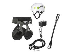 Zip line rider kit combines a Bungee Brake Kit with a complete set of riding gear - deluxe style. Diy Zipline, Riding Gear, Backyard, Accessories, Patio, Backyards