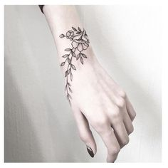 wrist tattoos with meaning, wrist tattoos for women, small wrist tattoos, unique wrist tattoos Unique Wrist Tattoos, Flower Wrist Tattoos, Wrist Tattoos For Women, Tattoo Designs For Women, Tattoos For Women Small, Tattoo Women, Tattoo Flowers, Wrist Hand Tattoo, Small Tattoos