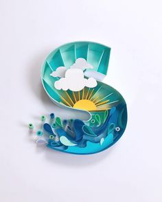 *** Quilling - the magic of paper strips! Arte Quilling, Quilling Letters, Paper Quilling Patterns, Quilling Paper Craft, Paper Crafts, Paper Letters, Cardboard Letters, 3d Paper Art, Quilled Paper Art