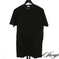 62efb9f6c0d39d NWOT LOT x4 Zimmerli of Switzerland 172 Black Single Stitch Crew Tee Shirt  XXL #fashion