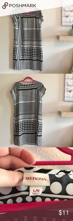 Graphic Dot Black and White Sheath Dress Black and white graphic dot sheath dress from Target. Worn only 1x, in great condition. Merona Dresses