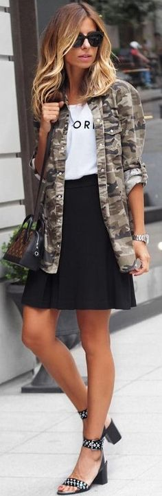 Camo Jacket + Black and White                                                                             Source