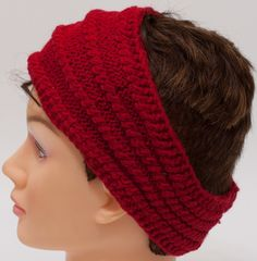 Knited headband, hand knit red ear warmer, head warmer hairband Knitted Headband, Crochet Beanie, Knitted Hats, Wire Wrapped Earrings, Christmas Gifts For Women, Birthday Gifts For Her, Ear Warmers, Hair Band, Mother Gifts