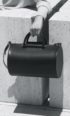 Cylinder Bag - structured handbag, chic minimalist style // Building Block