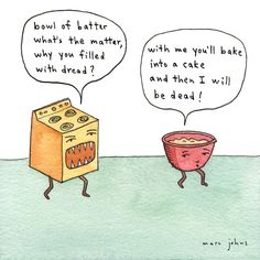 Poster | BOWL OF BATTER WHAT'S T von Marc Johns | more posters at http://moreposter.de