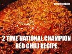 This video teaches you how to make a 2-time National Champion Red Chili. This recipe was created by Margaret Nadeau and won the CASI Terilingua International Chili championship in 2005 & 2009. She calls it Sahara Chili To make: STEP 1: 2 lbs. Course ground beef (chili grand) 1 TBS...