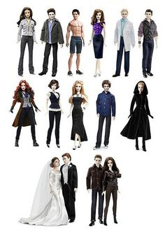 Twilight Barbie Dolls by They Call Me Obsessed, via Flickr