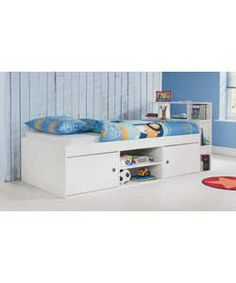 Corey White Cabin Bed Frame with Finley Mattress.