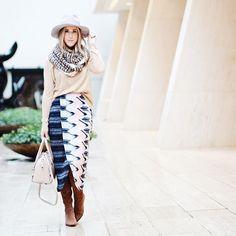 Plata Chevron Skirt #Anthropologie #MyAnthroPhoto