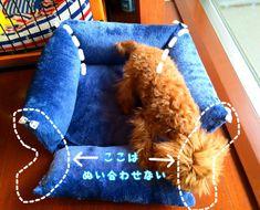 100円クッションを使った犬用ベッドの作り方 借りぐらしのショコラッティ