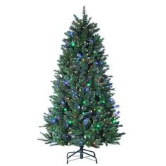 7 Santa Fe Pine PreLit ColorChanging LED Artificial Christmas Tree w Remote *** Learn more by visiting the affiliate link Amazon.com on image.