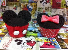 Cupcakes Mickey and Minnie Mouse