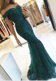 Charming Prom Dress,Dark Green Prom Dress,Long Prom #prom #promdress #dress #eveningdress #evening #fashion #love #shopping #art #dress #women #mermaid #SEXY #SexyGirl #PromDresses