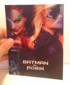 Batman and Robin New 3D Lenticular Card with Flip effect for Bluray