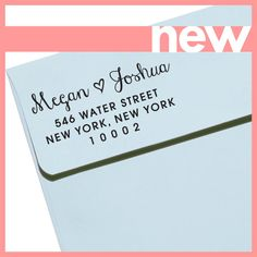 Custom address stamp for return address labels!