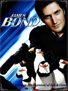 Richard Armitage as a funny James Bond (fan art) OMG CANT believe i found this