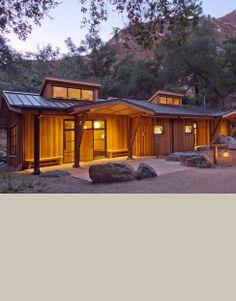 Tassajara Zen Center Yoga Studio at dusk