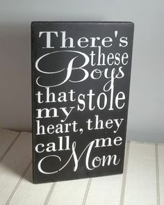 They Call Me Mom Black and White Painted by blockpaperscissors, $25.00