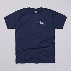 Flatspot - Stussy Basic Logo T Shirt Navy