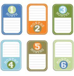 Baby Boy Journal Cards Set 1
