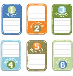 Baby Boy Journal Cards Set 1