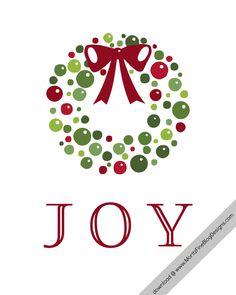 Free Christmas Holiday JOY printable.