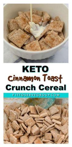 Cereal Keto, Low Carb Cereal, Crunch Cereal, Sugar Free Cereal, Low Carb Keto, Low Carb Recipes, Cinnamon Toast Crunch Shot, Granola, Galletas Keto