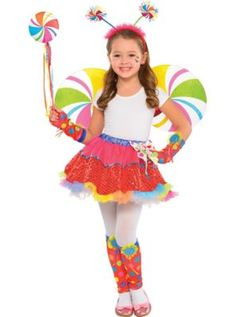 Girls Lollipop Fairy Costume