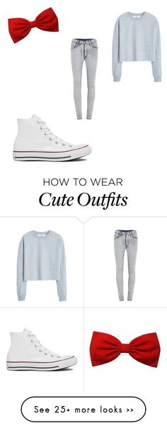 Cute / little bit girly outfit!☺️ by mayvibes on Polyvore featuring Converse, MANGO and Cheap Monday