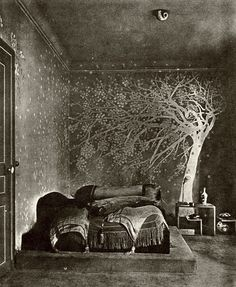 Bedroom designed by Paul Poiret,1924 2headedsnake:  curieuxdetrucs.com