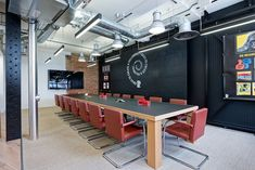 Photo image bank of design and build projects completed by Modus. Examples of relocation and refurbishment of office spaces across the UK Chalkboard Table, Office Furniture Design, Chalk Board, Trends, Building, Image, Tops, Home Decor, Chalkboard