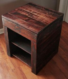DIY Pallet Wood Side Table Plans