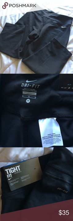 Nike dri-fit Capri Nike dr-fit tight fit capris. Never worn. Nike Pants