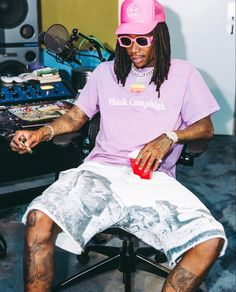 Hip Hop Fashion, High Fashion, Mens Fashion, Marcelo D2, Wiz Khalifa, New Energy, The Wiz, African Fabric, Kurt Cobain