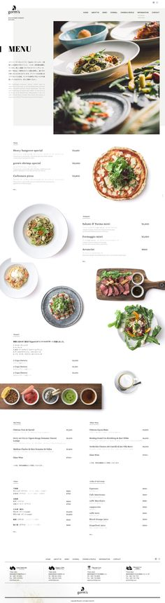 create restaurant website, inspiration for the menue page / Restaurant Webseite erstellen, Speisekarte inspiration Restaurant Layout, Carta Restaurant, Dessert Restaurant, Restaurant Website Design, Website Menu Design, Layout Design, Layout Web, Menu Layout, Graphisches Design