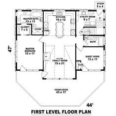 1st Level image of Mountain Home House Plan