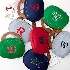 Darling monogrammed Bermuda bags http://rstyle.me/n/mcgi5nyg6