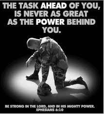 USMC, this was also Hunter's Bible verse on his 2nd degree blackbelt.