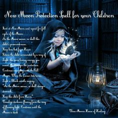 New moon child protection spell