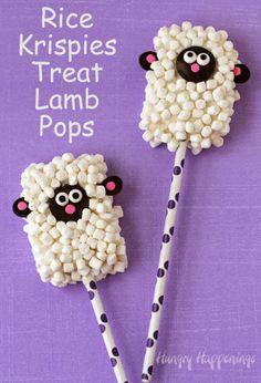 Rice Krispies Treat Lamb Pops