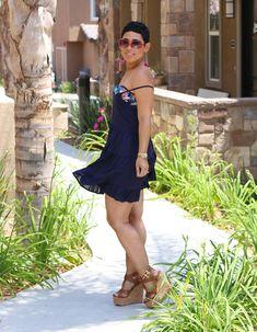 Flirty Open Back Dress + Wedges 4224a7d5c4