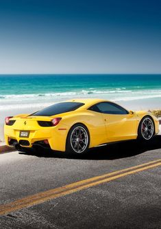 Ferrari 458/ I am not really s fan of yellow, but this car does it for me