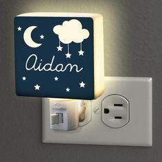 Personalized Night Light, x Includes 7 Watt Light Bulb - Great product, works as expected with no issues.When you search for good night lights for kids r Star Nursery, Nursery Decor, Bedroom Night Light, Best Night Light, Decorative Night Lights, Dream Night, Personalized Gifts For Kids, Star Designs, One Light