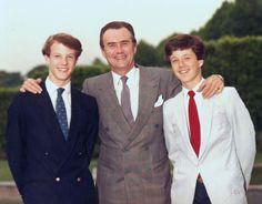 Prince Consort Henrik of Denmark with his sons Prince Joachim of Denmark & Crown Prince Frederik of Denmark