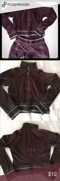 Self Esteem brown velour jacket and pants set Self Esteem brown velour jacket and pants set. Large size. Used condition. Self Esteem Pants Track Pants & Joggers