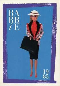 """barbie collectible fashion trading card   Barbie Collectible Fashion Trading Card """" Dress Designer """" Portfolio ..."""