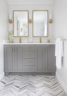 I have renovation on the brain this month with two kitchens and two bathrooms in the works, so I'm dedicating this week to the topic of remodeling bathrooms! As we all know, updated bathrooms increase a home's value and help sell your home quicker than similar houses in the market. A fresh coat of p