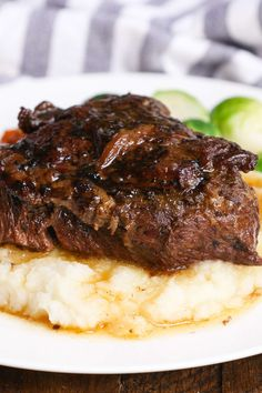 May 2020 - These beef cheeks are braised low-and-slow with red wine, vegetables and aromatic herbs. A mouthwatering dinner with beefy flavors! Slow Cooker Meatloaf, Slow Cooker Beef, Slow Cooker Recipes, Beef Recipes, Easy Recipes, Beef Cheek Meat Recipe, Beef Cheeks Recipe Slow Cooker, Easy Family Meals, Quick Easy Meals