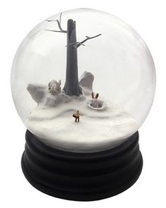 Snowglobes whose narratives at first appear charming, and then upon closer inspection are quite a bit twisted....